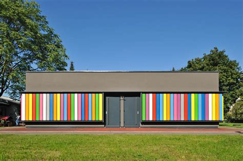 Modern Bathroom Idea Interactive Exterior Transforms Kindergarten Classroom