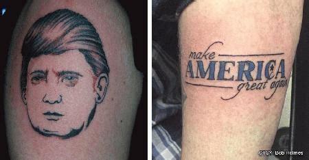 tattoo of us donald trump new hshire tattoo studio offers free donald trump