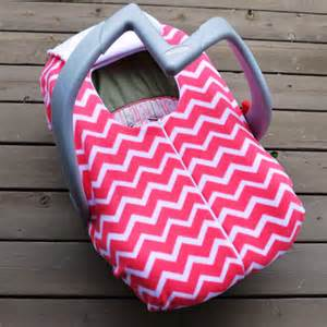 Car Seat Cover For Baby In Winter Chevron Car Seat Cover For Winter Baby With Zipper Pink And