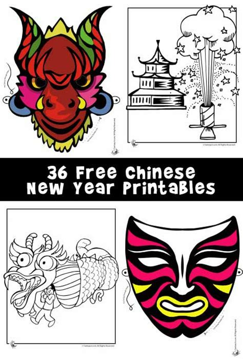 free printable new year masks new year printables masks dragons and coloring