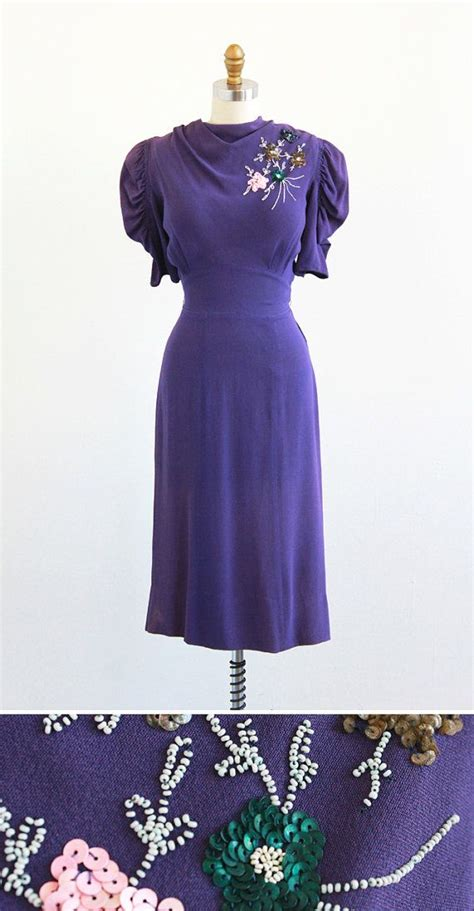 30s swing dress vintage 1930s dress 30s dress purple dreamy dreams