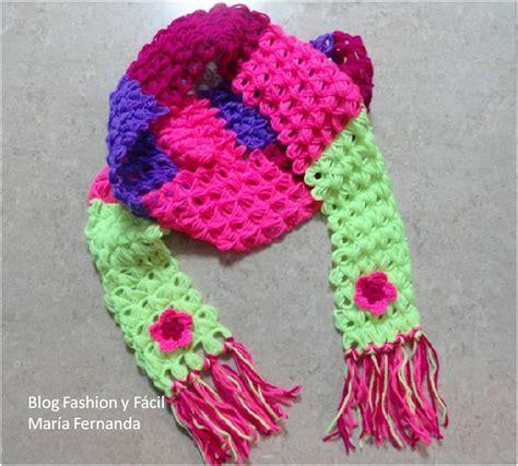 Como Hacer Bufandas Tejidas En Gancho | bufandas tejidas a gancho para ni 241 a
