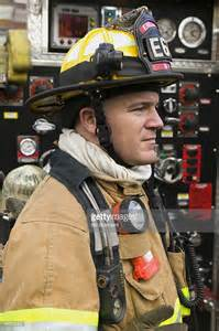 profile of firefighter stock photo getty images