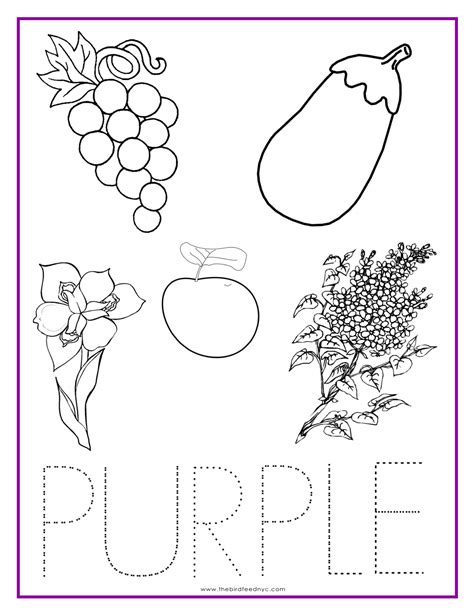 purple color activity sheet colors color