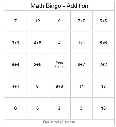 Math Bingo Card Template by Math Bingo Template Using Numbers Between 50 100 Bingo