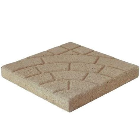 16x16 patio pavers home depot pavestone 16 in x 16 in buff cobble concrete step