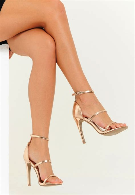 High Heels M41 63 lola minimal barely there multi heel gold 4th reckless