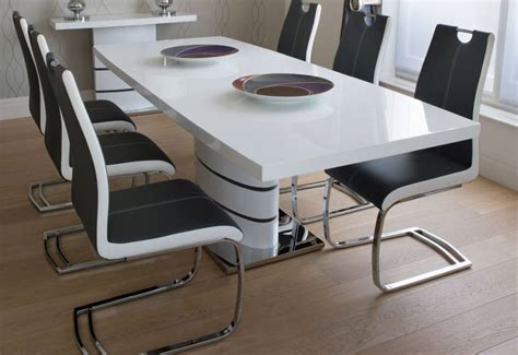 White Extending Dining Table And Chairs Greenapple Furniture Rimini Lacquered Gloss Grey Or White Dining Table L Table Console