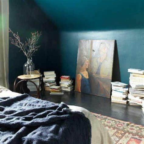 id馥 d馗o mur chambre 1001 id 233 es pour une chambre bleu canard p 233 trole et paon