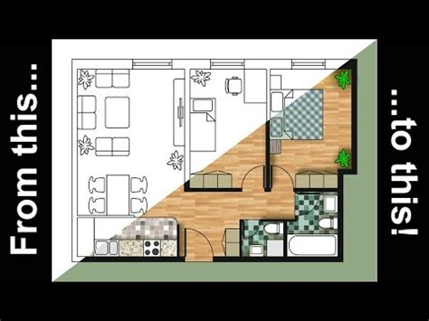 How To Draw Floor Plan In Autocad How To Render An Autocad Floor Plan With Photoshop Youtube