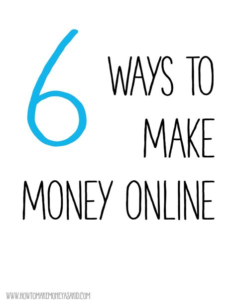 Easy Ways To Make Money Online For Teenagers - how to earn money online for kids howtomakemoneyasakid com