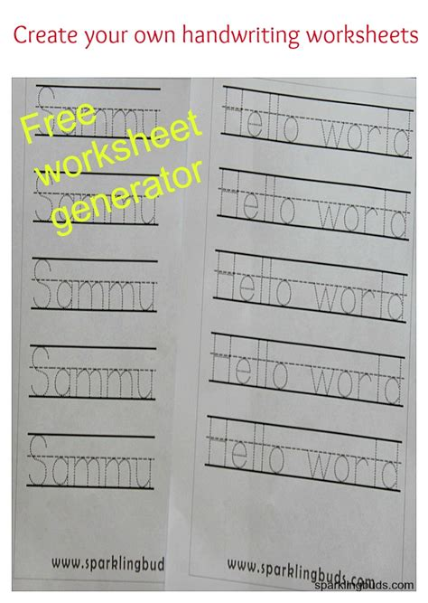 create your own handwriting worksheets sparklingbuds