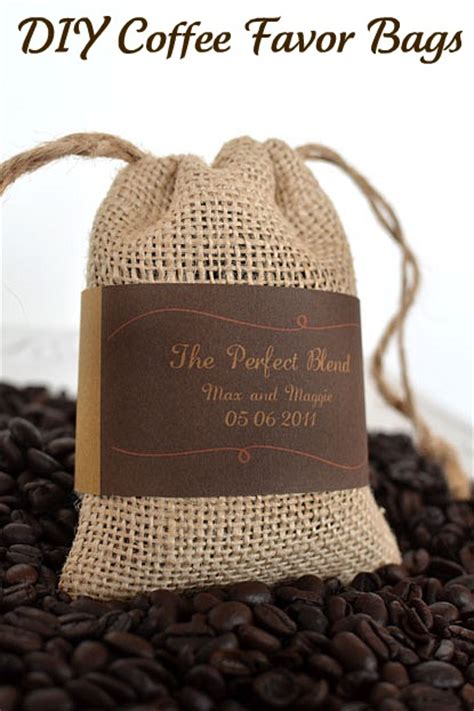 Diy Labels For Wedding Favors diy wedding coffee bean favor bags with free printable labels