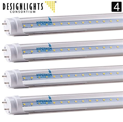 line voltage led t8 ls 4 pack of hyperikon 174 t8 led light tube 4ft 18w 36w