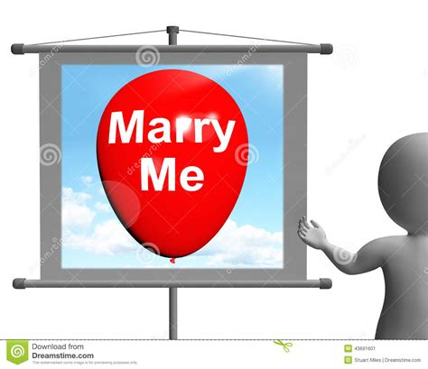 Me Me Me Signed - marry me sign represents lovers proposed engagement stock