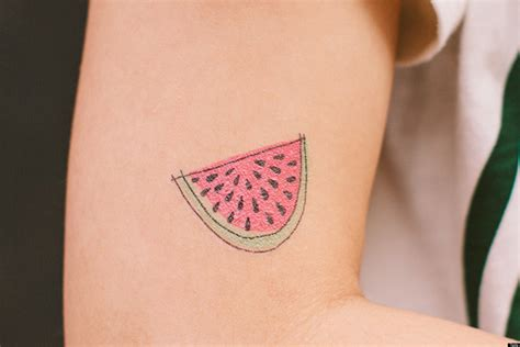 temporary food tattoos show your culinary love just not
