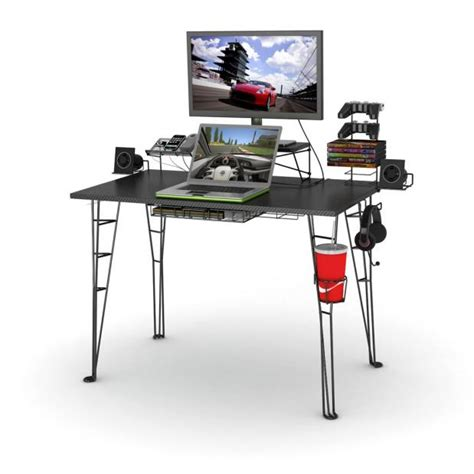 Gaming Desk Accessories Gaming Desk In Black With 8 Accessories