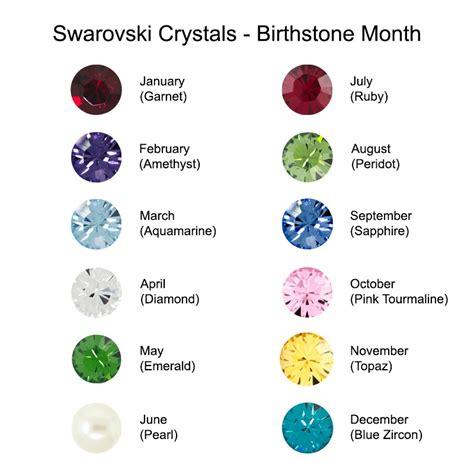 birthstone colors chart silver swarovski birthstone earspiral earrings
