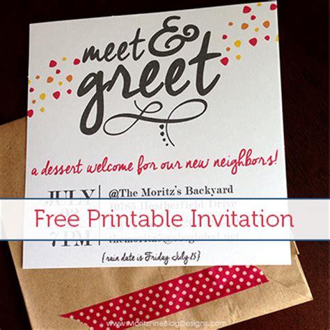 Invitation Letter For Meet And Greet Meet Greet Free Printable Invitation