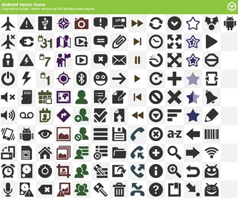 android icon packs android vector icons pack ai eps svg icons graphic design junction