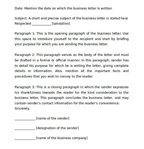 proper layout of a business letter proper business letter format 8 download free documents