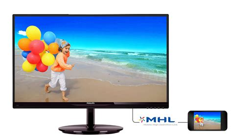 lcd monitor with smartimage lite 234e5qhsb 70 philips