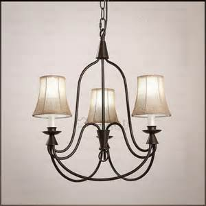 Rustic Chandeliers Wrought Iron Country 3 Light Fabric Shade Wrought Iron Rustic Chandeliers
