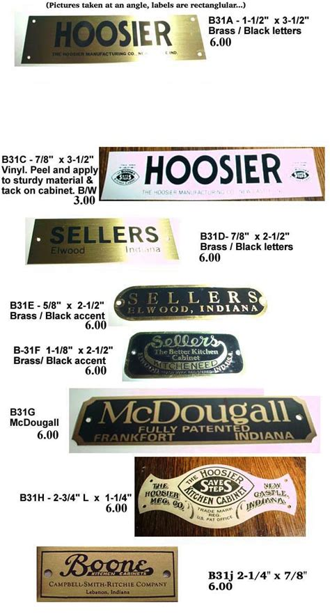 Architecturals by Sellers Hoosier Cabinet Door Cards Cabinet Doors
