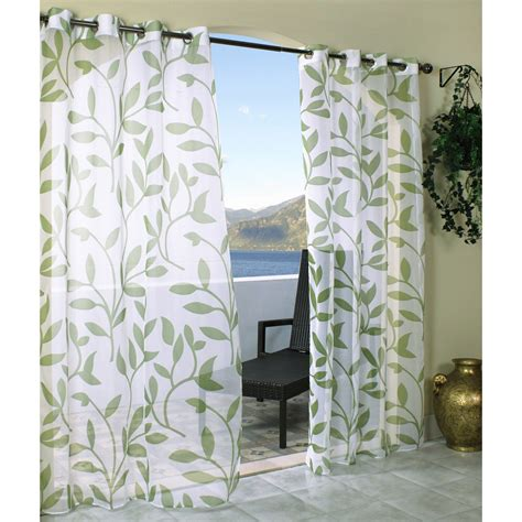 outdoor draperies curtains outdoor decor escape leaf grommet outdoor curtain panel