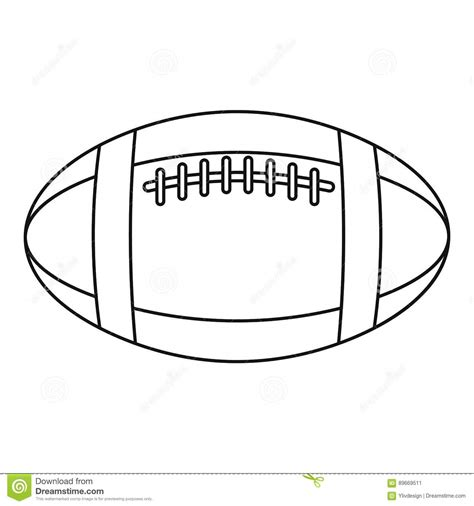 Rugby Outline by Football Or Rugby Icon Outline Style Stock Vector Illustration Of Play Generic 89669511