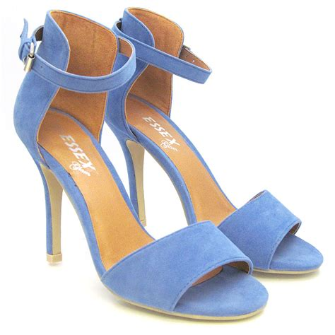 blue high sandals new womens stiletto sandals ankle high heel