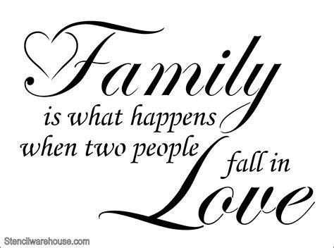 Kitchen Design Process Family Love Wall Art Stencil