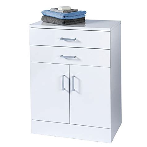 Trento Freestanding White Gloss Bathroom Cabinet By White Freestanding Bathroom Cabinet
