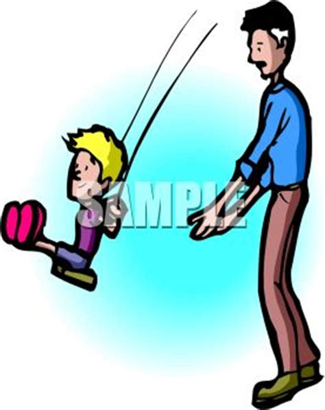 pushing a swing dad pushing his son on the clipart panda free clipart