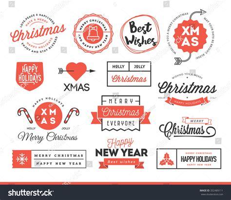 christmas themed logos set of beautiful christmas themed labels badges and logos