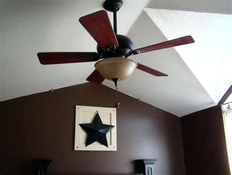 mounting a ceiling fan on sloped bottlesandblends