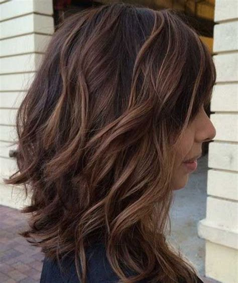 Long Choppy Layered Hairstyles Inverted Bob | long choppy brown bob with highlights hair world magazine