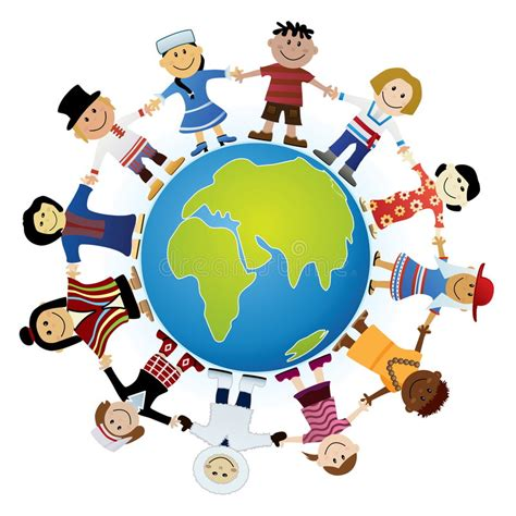 imagenes libres de derchos childrens of the world stock vector illustration of clip