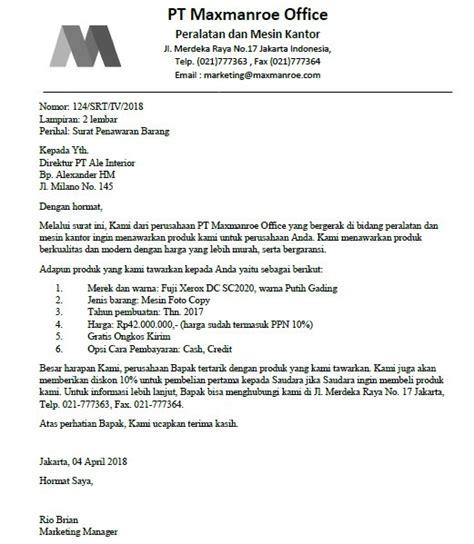 Contoh Surat Pesanan Barang Bahasa Inggris Beserta Artinya