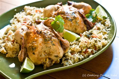 recipe garlic lime cornish game hens cooking on the side