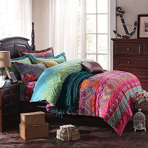 alicemall bohemian bedding ethnic multi color flower
