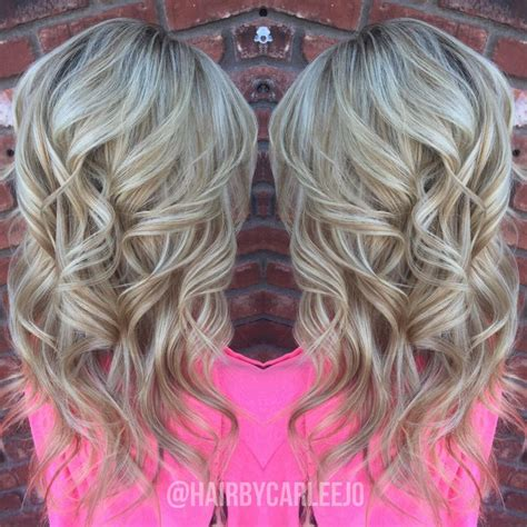 pictures of blonde highlights and lowlights curly long healthy hair blonde highlights lowlights olaplex