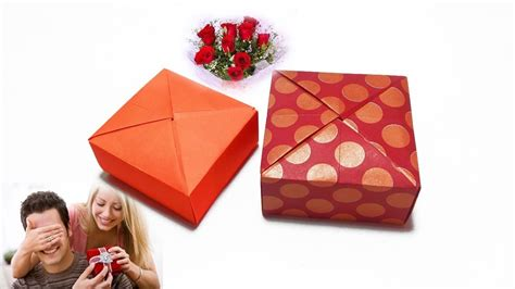 How To Make Paper Boxes For Gifts - gift box diy gift ideas origami paper gift box how