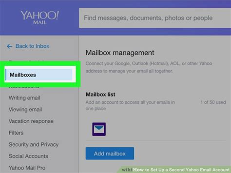yahoo email email settings how to set up a second yahoo email account 11 steps