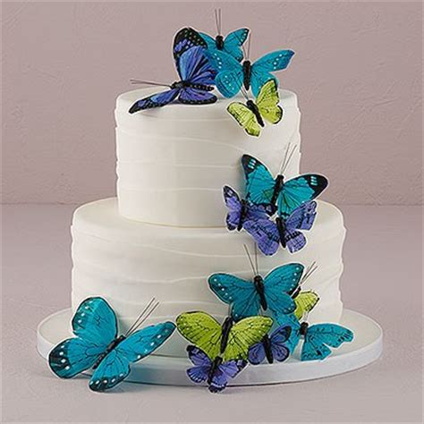 Butterfly Cake Decorations On Wire by Beautiful Butterfly Cake Sets Butterfly Wedding Favours