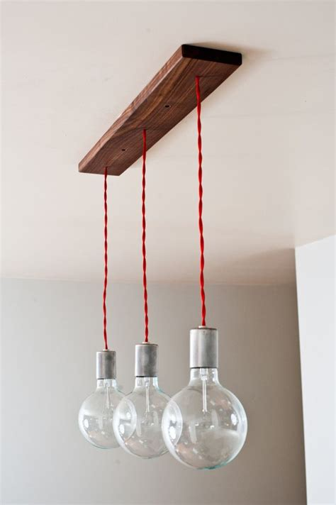 minimalist triple hanging pendants
