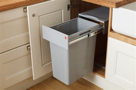 In Cupboard Bins by Kitchen Waste Bins Solid Wood Kitchen Cabinets