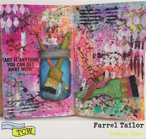 art journal layout paris art is anything mixed media art journal by farrel tailor