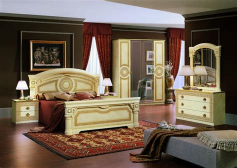 bedroom italian furniture modrest aida traditional california king bed set made in