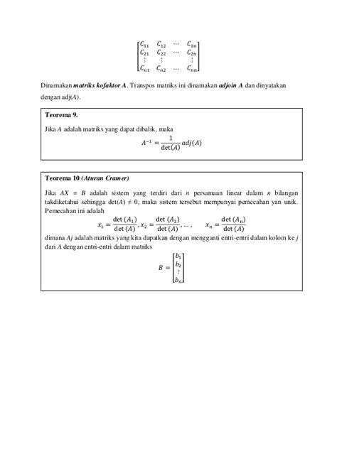 Aljabar Linear Element 1 8 aljabar linear elementer